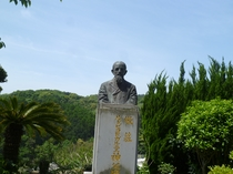 【周辺】大江天主堂とガニエル神父(フランス宣教師)の石碑