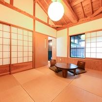 *[離れ]温かみのある室内。プライベートな空間でゆっくりとお過ごしください。
