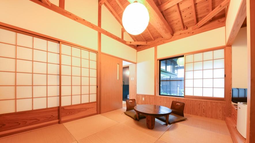 [離れ]温かみのある室内。プライベートな空間でゆっくりとお過ごしください。