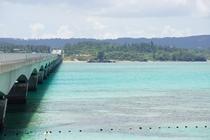 古宇利大橋と海