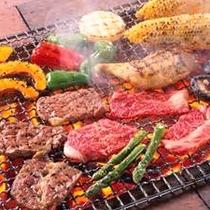 *BBQ一例/石垣牛や島豚など、その日オススメの島のお肉や新鮮な島野菜をご用意します。