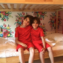 *ファミリールーム一例/スウェーデン製の2段ベッド。子供たちは2段ベッドで楽しくお泊まり♪