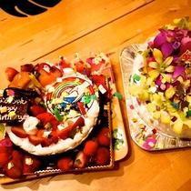 *CAFE&BAR/HO ALOHA特製お誕生日ケーキ!サプライズを計画中の方はご相談ください♪