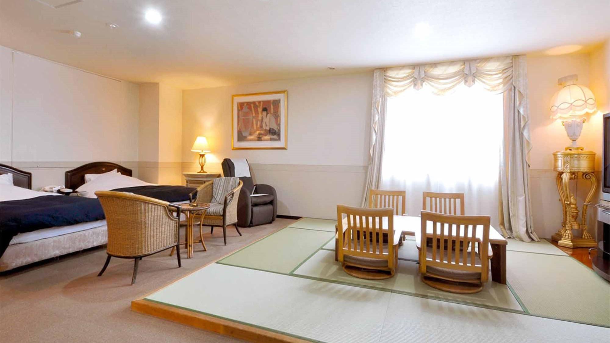 【和洋室】当ホテルで2ルームしかない和洋折衷の贅沢なお部屋。