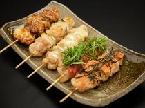 【レストラン】料理一例(焼き鳥盛り合わせ)