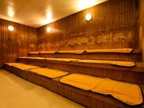 【大浴場】サウナで血行を促進してお休みください。水分補給も忘れず、体調に合わせてご利用ください。