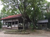 ひるがの白山神社の拝殿