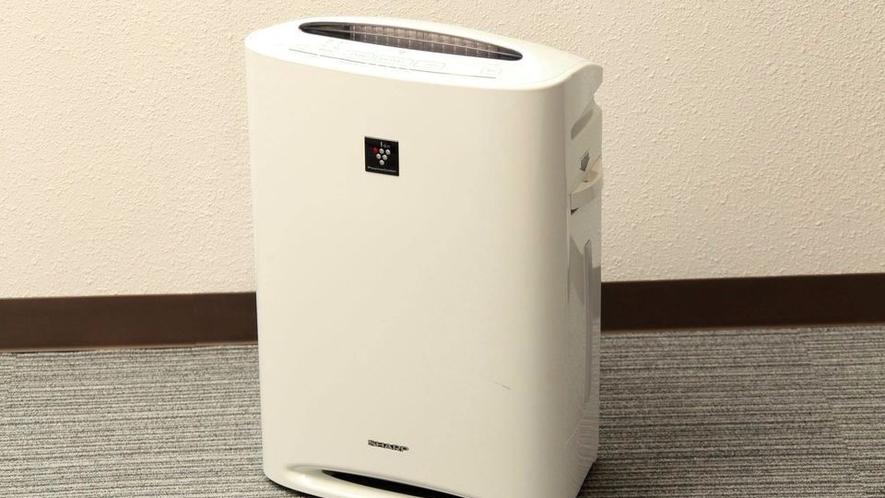 ★全ての客室に加湿器付空気清浄機を設置しております。