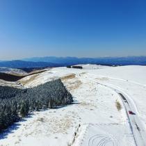 ★冬のビーナスライン。一部通行止めはありますが、車山高原スキー場までは通行可能。