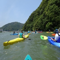 円山川公苑のカヌー体験