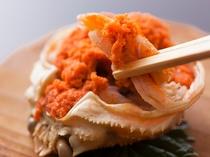 せこ(せいこ)蟹 旅館で茹で、お箸だけで食べて頂ける様に調理しております