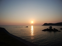 日本一の夕日