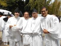 伊豆山神社 お神輿かつぎ体験