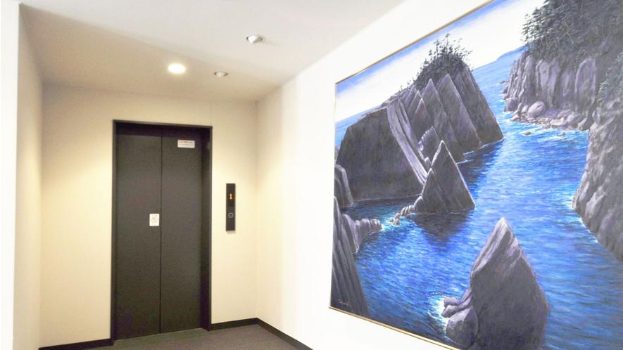 【館内】当ホテルでは絵画を各所に展示しています♪ぜひご覧ください。
