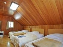 【寝室】ベット6台設置、グループ旅行に最適♪