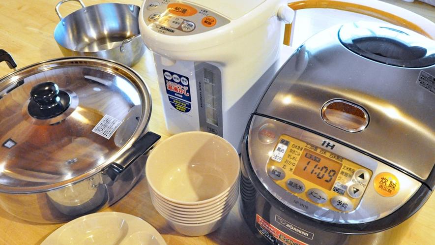 【備品】キッチン・食器一式を備えており自炊ができます