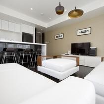 *1ベッドルームプレミアム室内一例/広々としたリビングダイニング!