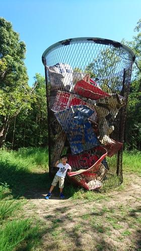 巨大なゴミ箱