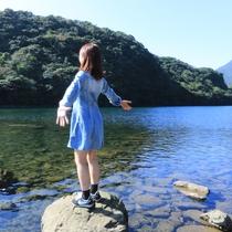 【安房川】宿のすぐ側!広い河口から両側に迫る深い谷まで屋久島の大自然を堪能できます