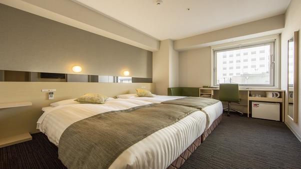 【素泊まり】ツインルーム【セミダブルサイズベッドが2台】