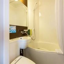 【客室ユニットバス】 温泉以外にも客室にユニットバス完備