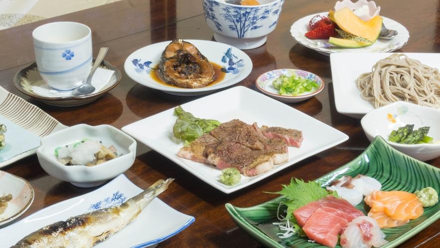*夕食/季節ごとの里山の味を是非ご堪能下さい。