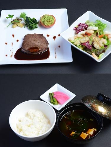 「美蔵」アンガス牛フィレ肉ステーキセット(ライス)