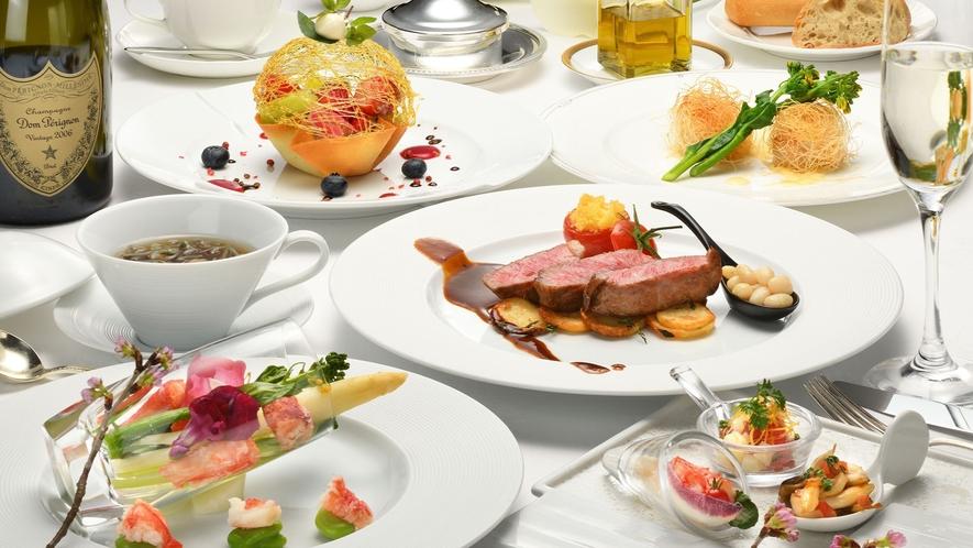 【クラシックフレンチ】1日組数限定のレストランで味わうフレンチフルコース。(一例)