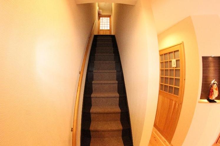 2階への階段!