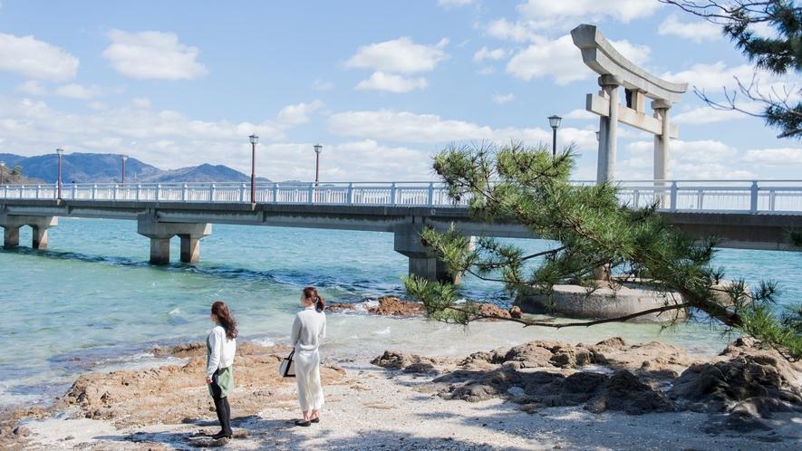 「竹島」、島全体が『八百富神社』の境内というありがたい島