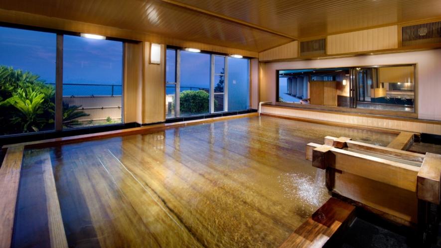 広い温泉大浴場『総檜風呂』