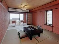 露天風呂(枡型)付きオーシャンフロント和モダン客室