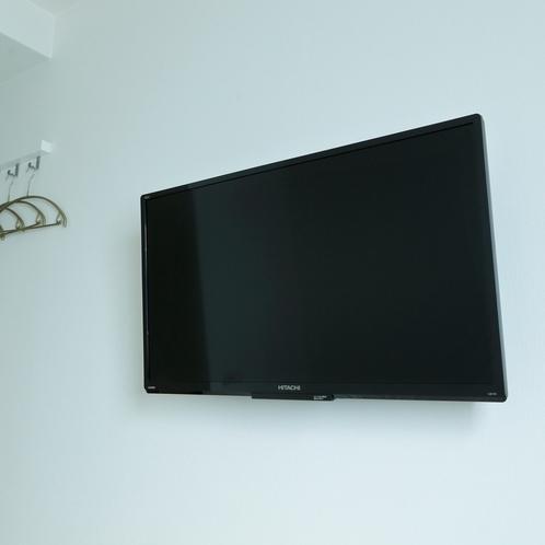 シングルルーム、ダブルルームには各室液晶テレビが完備しています。もちろん無料Wi-FIも。