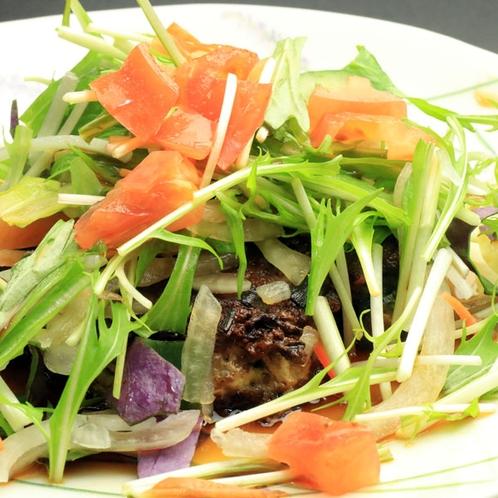【夕食】かあちゃんのほっこり島料理逸品一例《自家製野菜ハンバーグ》