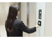 【3F客室エレベーターホール セキュリティ】ルームキーにて解錠し客室用エレベーターホールに入れます。