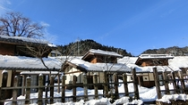 *【8名用コテージ】冬の雪景色