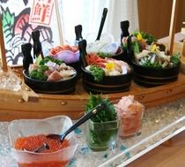 ご朝食(お刺身コーナー)