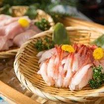 【朝食】お刺身コーナー・海老