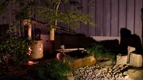 和室 坪庭 夜