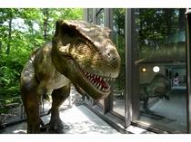 クアハウスの外にも恐竜が!