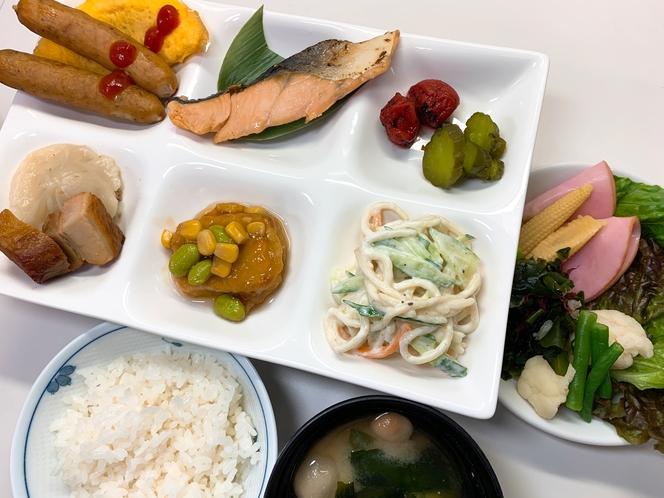 朝食メニュー(個食対応編)ご飯・お味噌汁・ドリンクバーはおかわり自由!