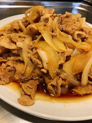 朝食バイキング「ジューシー豚の生姜焼き」