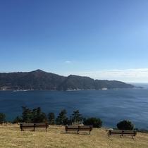 *周辺景色/牡鹿半島展望台からは美しい水平線を一望、金華山なども見渡せる絶景スポット。