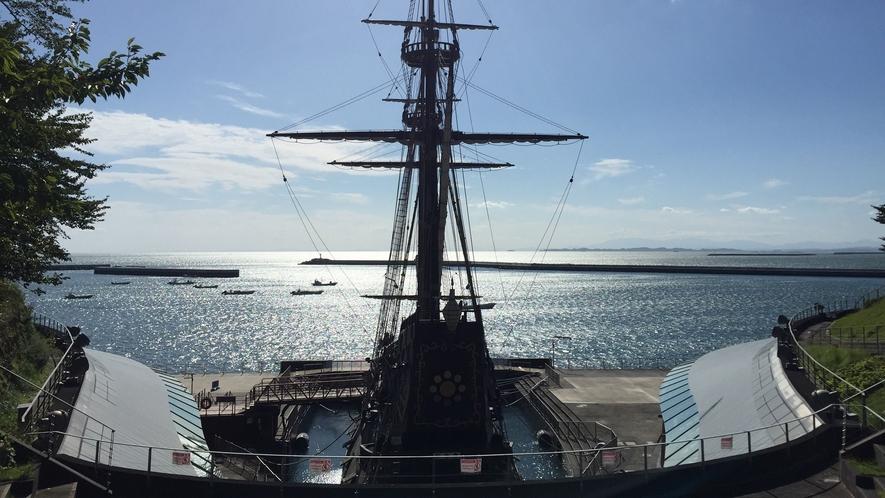 *サンファンパーク/高台から太平洋と復元船を見渡せる石巻の観光スポット!