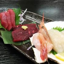 *夕食一例/三陸ならではの新鮮な海の幸を、そのままお刺身で堪能♪