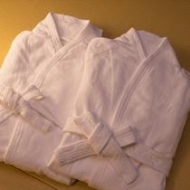 湯上りにゆっくり寛げるよう、バスローブをご用意
