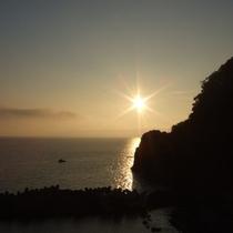 浜富からの夕陽