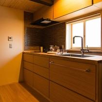 客室流水 キッチンはお好きに使って頂けます