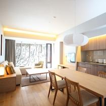 【2ベッドルームA フォレストビュー】4名様までご宿泊頂ける87平米のお部屋です。