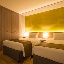 【2ベッドルームA フォレストビュー】ベッドはキング1台またはシングル2台にカスタイマイズできます